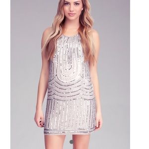 Bebe Sleeveless Beaded Dress 💫✨